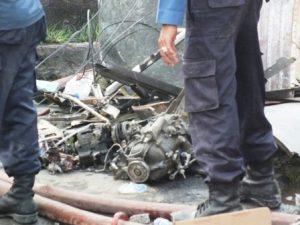 Foto dan Video Jatuhnya Pesawat Hercules A1310 di Medan
