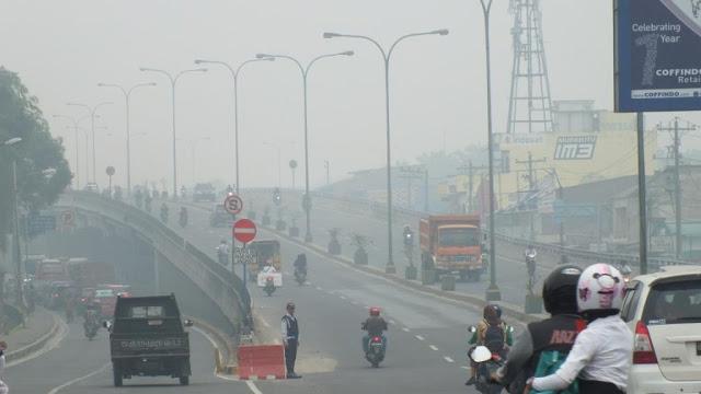 Kabut Asap kembali Selimuti Kota Medan