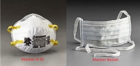 masker n95 dan masker bedah