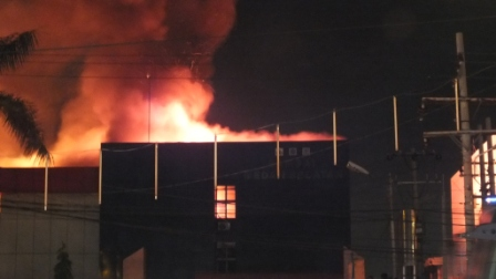 Kantor Dispenda Sumut Terbakar