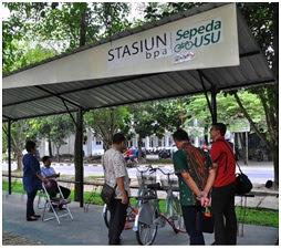 Bike to Campus Go Green Indonesia, Mahasiswi USU ke Kampus Naik Sepeda