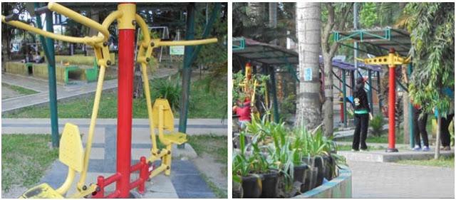 Sejumlah fasilitas olah raga di Taman Ahmad Yani Medan