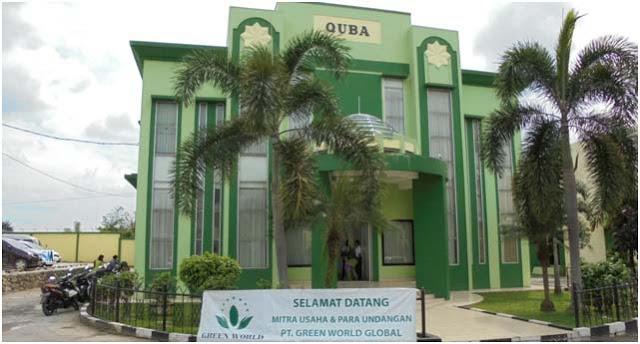 Aula Quba beberapa hari lalu disewa oleh sebuah perusahaan internasional Green World