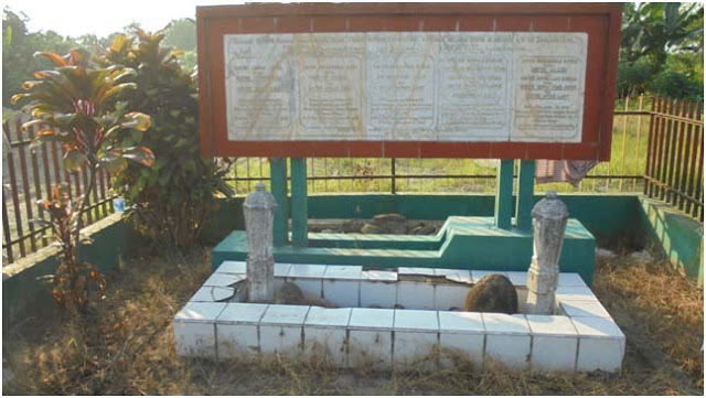 Kuburan keluarga dan kerabat penting dari Datuk Badiuzzaman Surbakti. Tulisan di pusara tidak begitu jelas