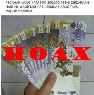 Heboh Uang Kertas Pecahan Rp. 200 Ribu Hanya Hoax