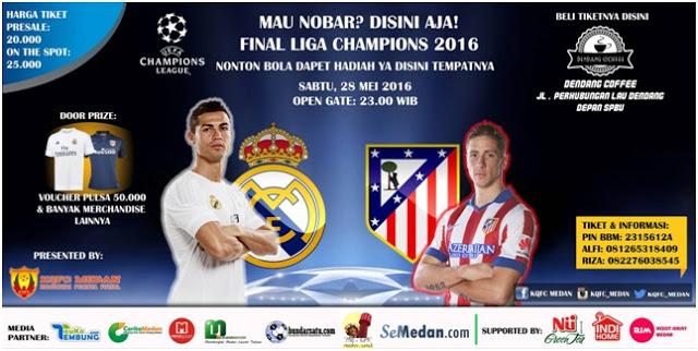 Nonton Bareng FINAL CHAMPION 2016 Bersama KQfc Medan