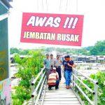 Jembatan Gantung Bukit Lawang di Tutup
