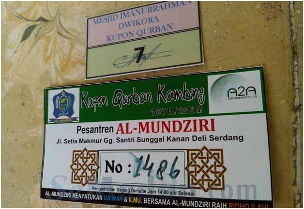 Penyembelihan Qurban dan Selembar Kupon Qurban Setara Sekilo Daging