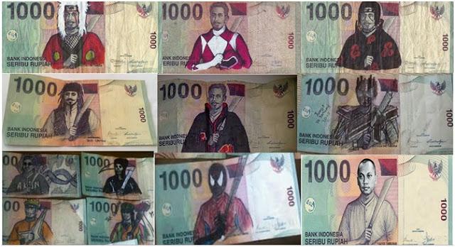 Gambar-gambar Lucu Pada Pecahan Uang Seribu