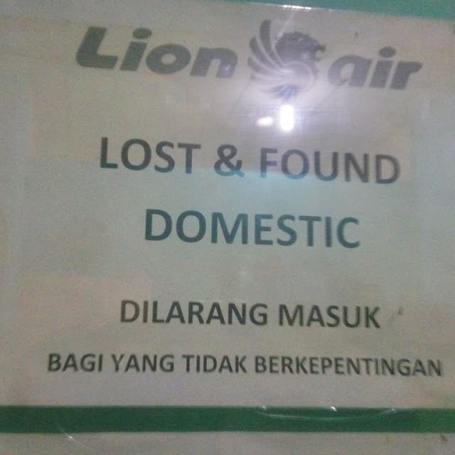 Divisi Lost and Found maskapai Lion Air