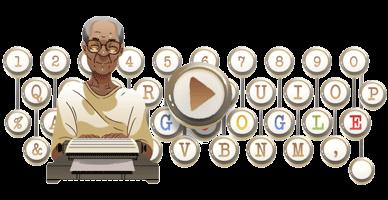 Pramoedya Ananta Toer menjadi tampilan Google Doodle hari ini