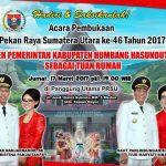 Pembukaan Pekan Raya Sumatera Utara ke-46 Tahun 2017