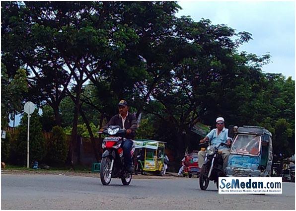 Becak Motor di Gunung Tua, Padang Lawas Utara