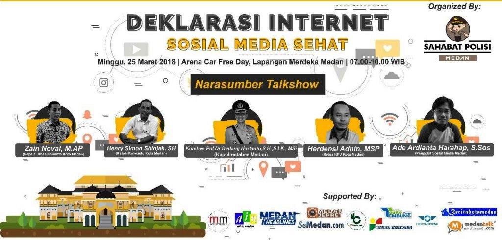 Sahabat Polisi Medan – Deklarasi Internet Sosial Media Sehat